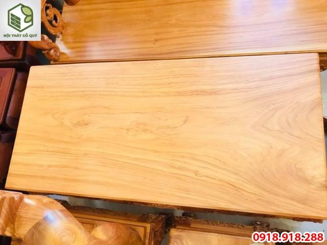 mặt bàn gỗ gõ đỏ ghana