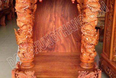 Bàn thờ gỗ hương đỏ cao cấp, Rộng 56cm x cao 81cm