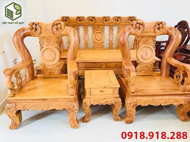 Bộ ghế gõ đỏ tay 12 6 món