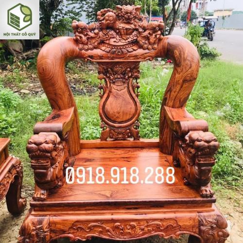 Bộ ghế gỗ cẩm chỉ tay 16
