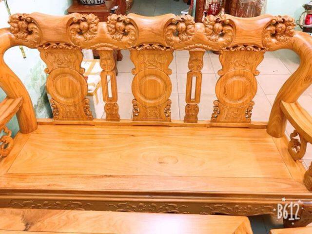 ghế dài gỗ đỏ tay 12