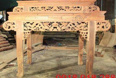 Trang thờ 2 tầng gỗ căm xe mộc