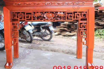 Trang thờ gỗ căm xe 1 tầng